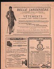WWI Pub Réclame Belle Jardinière/Kodak/Manufacture de Besançon 1917 ILLUSTRATION