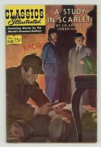 Classics Illustrated 110 A Study in Scarlet #2 FN- 5.5 1953