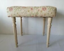 Dressing Table Stool Chair Padded Stool Floral Fabric