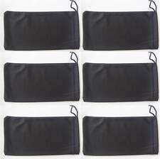 6 pcs Black Microfiber Drawstring Pouches/Soft Cases