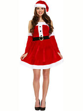 Women's Mrs Claus Sexy Santa Christmas Party Fancy Dress Costume UK 10 - 14