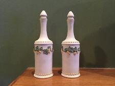 Pair of Vintage Italian Ceramic Perfume Dresser Bottles Signed Sc Italy