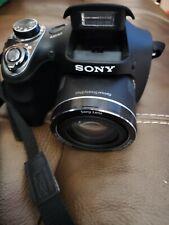 Sony Cyber-Shot DSC-H300 Black Digital Camera - 20.1 MP Used works Great AA Batt