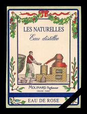 Vintage French Perfume Soap Label: Original Molinard Eau De Rose Paris France