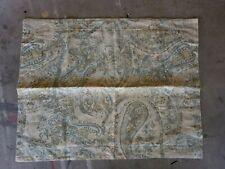 "Pottery Barn ""Fresco Paisley - Aqua/Yellow"" Linen Standard Sham"