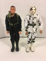 """The Ultimate Soldier 12"""" Lot of 2 Action Figures Winter Sniper & Mac-V Spec Ops"""