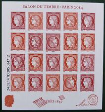 Salon du timbre 2014 feuille Cérès F4871