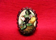 ZOMBIE PIN UP GIRL LINGERIE VINTAGE RING PSYCHOBILLY GOTH