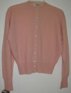 Vintage Womens S? Dalton Pink Button Down Cashmere Cardigan Sweater As-Is