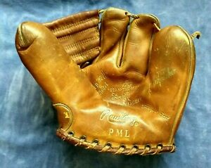 """Vintage Rawlings  Stan """"The Man"""" Musial Autograph Model 3 Finger Glove Model PML"""