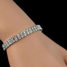 Stretch 1 Row Cubic Fashion Women Rhinestone Wedding Bracelet Bridal Crystal
