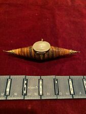 Vintage Telescope Snail Shell Trinket, Pill or Snuff Box or Necklace Sea Shell