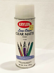VINTAGE KRYLON CLEAR MATTE SPRAY PAINT - FEELS FULL -COLLECTORS ITEM - 1996