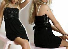 SeXy Miss Damen Glitzer Pailletten Mini Kleid Girl Dress 34/36/38 schwarz silber