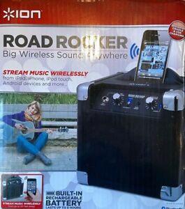 ION Road Rocker Portable Bluetooth Speaker USB Play Karaoke Mic PA System
