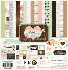 Carta Bella RUSTIC ELEGANT 12x12 Collection Kit Wedding Love Scrapbook
