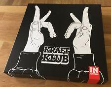 "KRAFTKLUB - In Schwarz *BOX* LIMITED DeluxeCD+LP+7""+Shirt: L+ STICKER + HAND RAR"