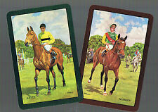 Playing Swap Cards 2 VINT  ENG  HORSE RACING  NMD HORSE & JOCKEY   MINT  W468