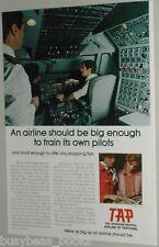 1974 TAP Airline advert, Portugal pilot training Transportes Aéreos Portugueses