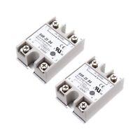 2PCS Solid State Relay SSR-25DA 25A /250V 3-32V DC Input 24-380VAC Output C4E6