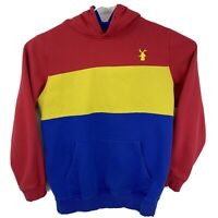 Dutch Bros Coffee Dutch Wear Red Yellow Blue Pull Over Hoodie Mens Size L