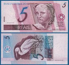 BRASILIEN / BRAZIL 5 Reais (1997-) UNC P.244A