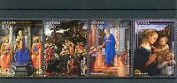 Guyana 2015 MNH Christmas Filippo Lippi Paintings 4v Set Madonna Child Angels