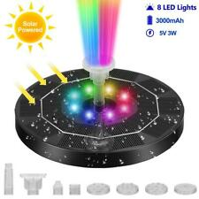 More details for led solar powered floating pump water fountain birdbath pond pool garden home uk
