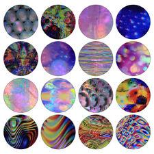 16Stk Holographisch Nagelfolie Gradient Bubble Streifen Transfer Aufkleber DIY