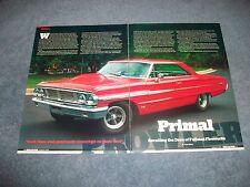 "1964 Ford Galaxie 500XL Article ""Primal Prowler"" 428 Tri-Power"