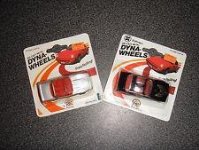 Vintage NIB 1989 (2-Pair) Dyna-Wheels 1/64 Die-cast Metal Cars (Transam) Zylmex