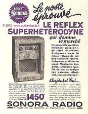 PUBLICITE ORIGINALE DE 1934 RADIO SONORA SUPERHETERODYNE 1450Frs PUB FRENCH AD