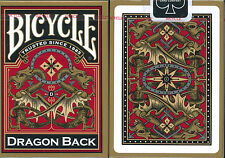 1 Deck GOLD DRAGON BACK Bicycle Playing Cards New 3rd Design in Series Red Back