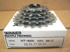 New-Old-Stock Suntour Winner 5-Speed Freewheel (13x23) w/Silver Finish
