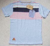 BOYS BLUE PURE COTTON SHORT SLEEVE T-SHIRT FROM ROCK & REVIVAL AGE 13 YEARS BNWT
