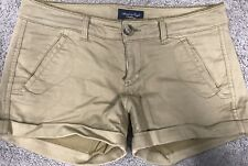 AMERICAN EAGLE * Women's Stretch Casual Tan Colored shorts * SIZE  4
