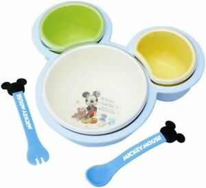 Diseny Baby Mickey Mouse Baby food palette Plate Spoon Fork set for Baby