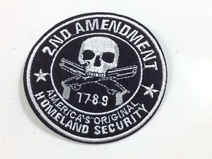 2nd Amendment ~  Embroidered Iron On Patch ~ NRA Gun Rights