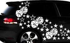 93-teiliges Sterne Würfel Cube Star Auto Aufkleber Tuning WANDTATTOO Blumen m2