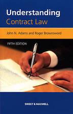 Understanding Contract Law by Professor Roger Brownsword, Captain John Adams (Paperback, 2007)