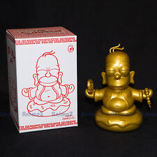 KIDROBOT THE SIMPSONS 3 in (environ 7.62 cm) Gold Homer Bouddha Figure petit coin * Vendeur Britannique *