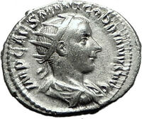 GORDIAN III 239AD Rome Silver Authentic Genuine Ancient Roman Coin Virtus i59207