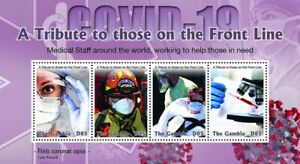 RA) 2020, GAMBIA, FIGHT AGAINST PANDEMIC, TRIBUTE TO THE WORKERS, MINISHEET