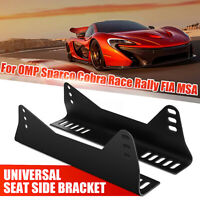 2 X Black Bucket Seat Side Mounts Brackets For OMP Sparco Cobra Race Rally
