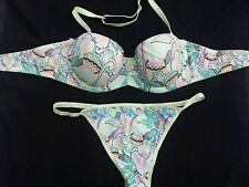 CHARLOTT lingerie soutien gorge90C+string 2 mirage jungle neuf sans étiquette