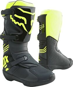 Fox COMP MX Motocross Offroad Race Boots Black Yellow Adults