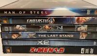 Superhero DVD lot, X-Men 1.5, X2, Last Stand, First Class, Man of Steel, F4