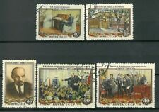 Russia /USSR, 1954, Sc 1694-1608, Lenin, 30yrs of Death, full set, CTO with gum