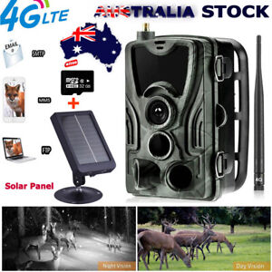 Hunting Trail Camera HD Home Security 16MP Infrared Night Camera+32G+Solar Panel