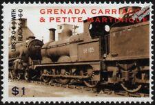 London, Midland & Scottish Railway (LMS) Class 2F 0-6-0 & Black 5 Train Stamp